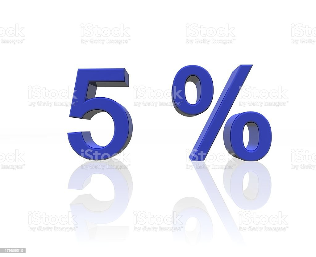 five percent stock photo