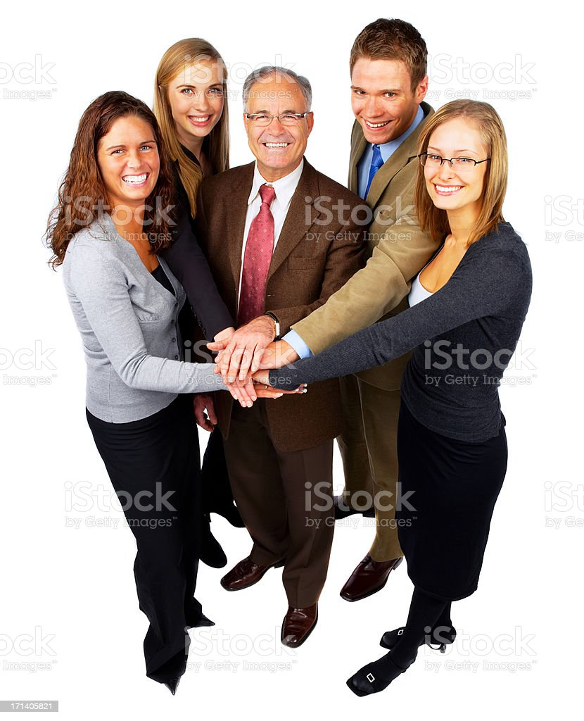Five Person Business Team royalty-free stock photo