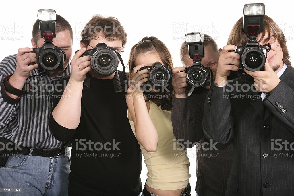 five photographers royalty-free stock photo