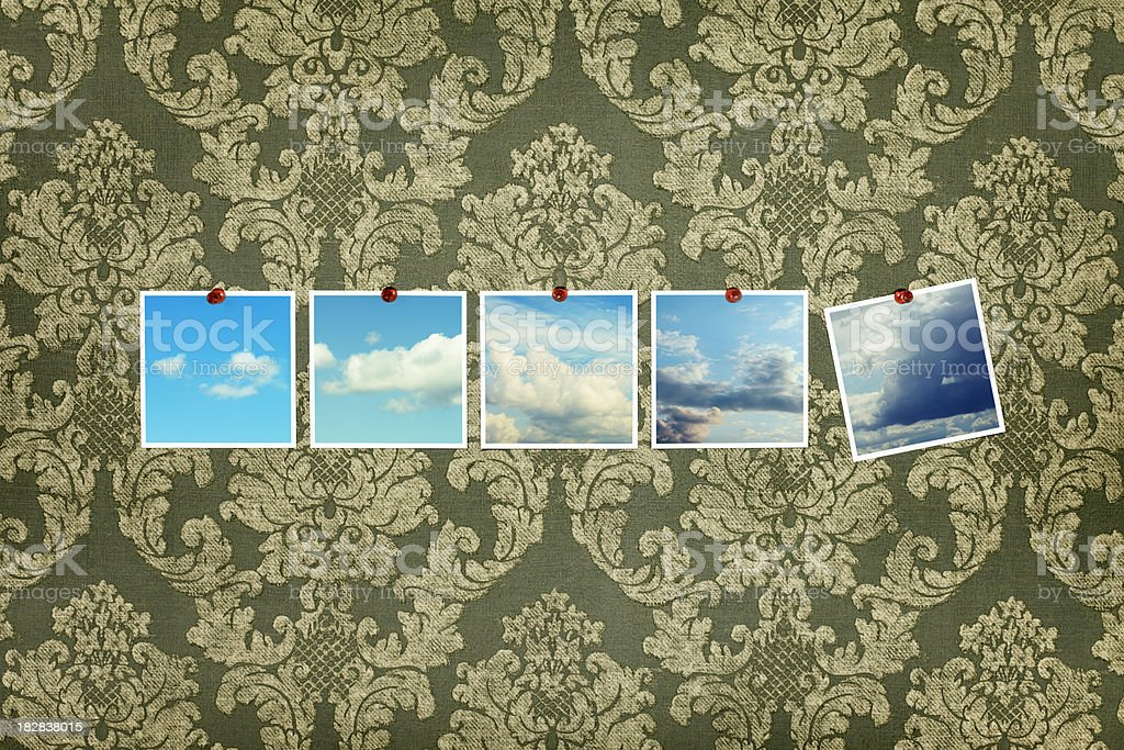Five Pieces of Sky on Wall royalty-free stock photo