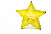 Five point Yellow star fruit standing up
