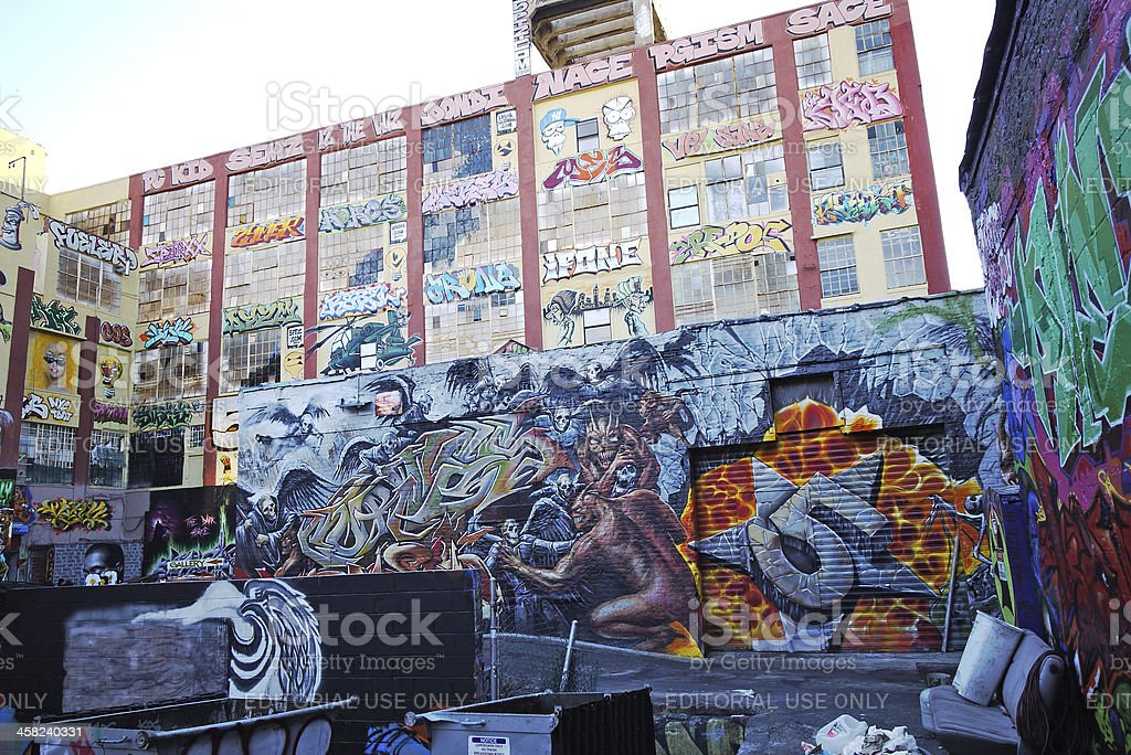 five Pointz is a cultural landmark for hip-hop in Queens stock photo