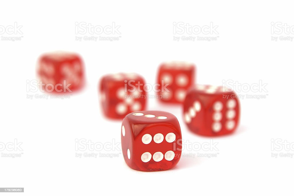 Five poker dices royalty-free stock photo