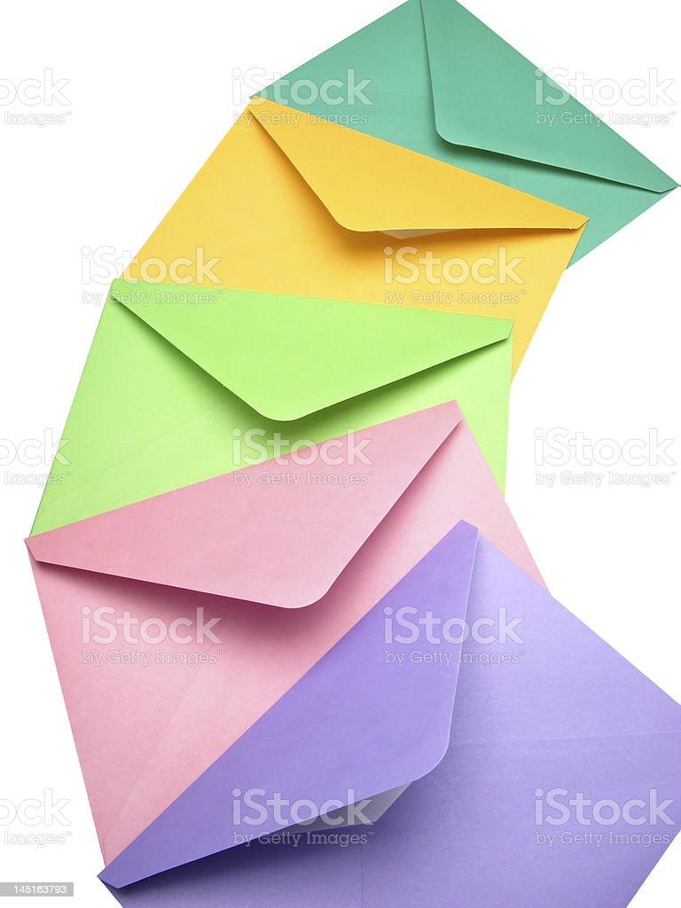 five post envelopes royalty-free stock photo