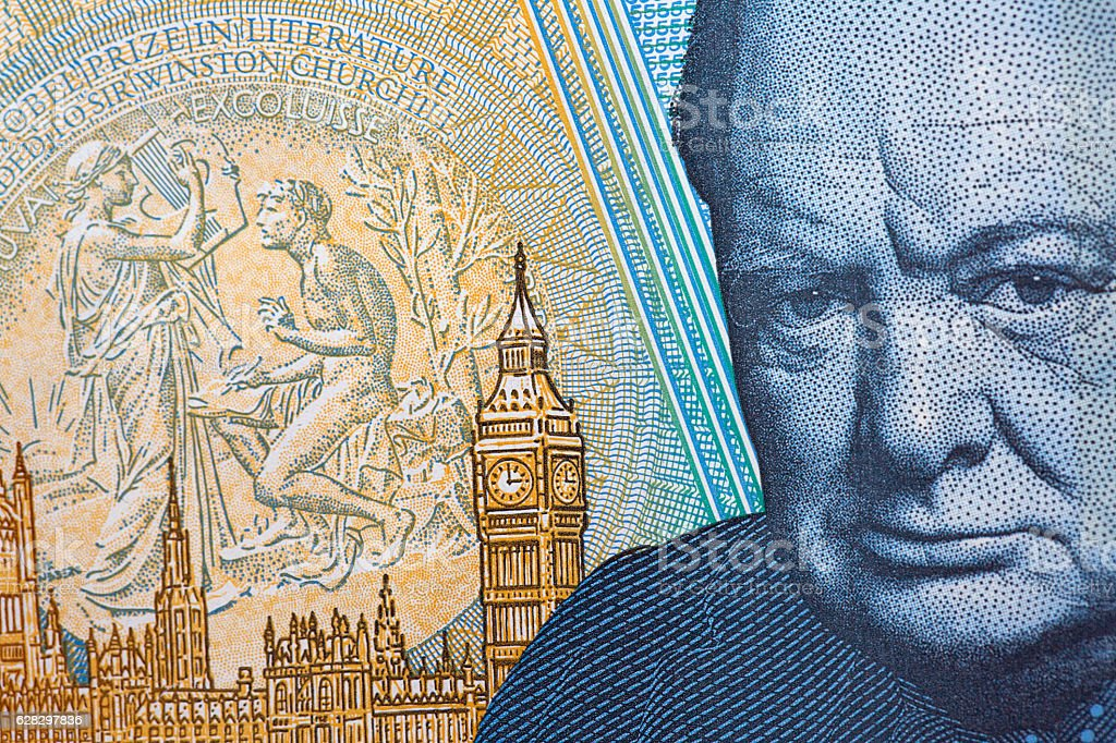 Five Pound Note stock photo