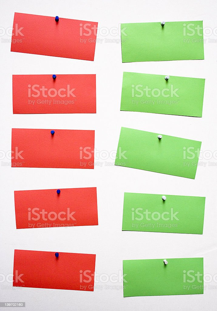 Five Pros, Five Cons royalty-free stock photo