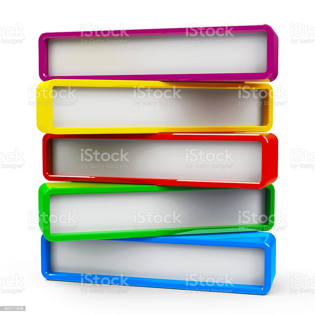 Five rectangle - five steps #2 stock photo