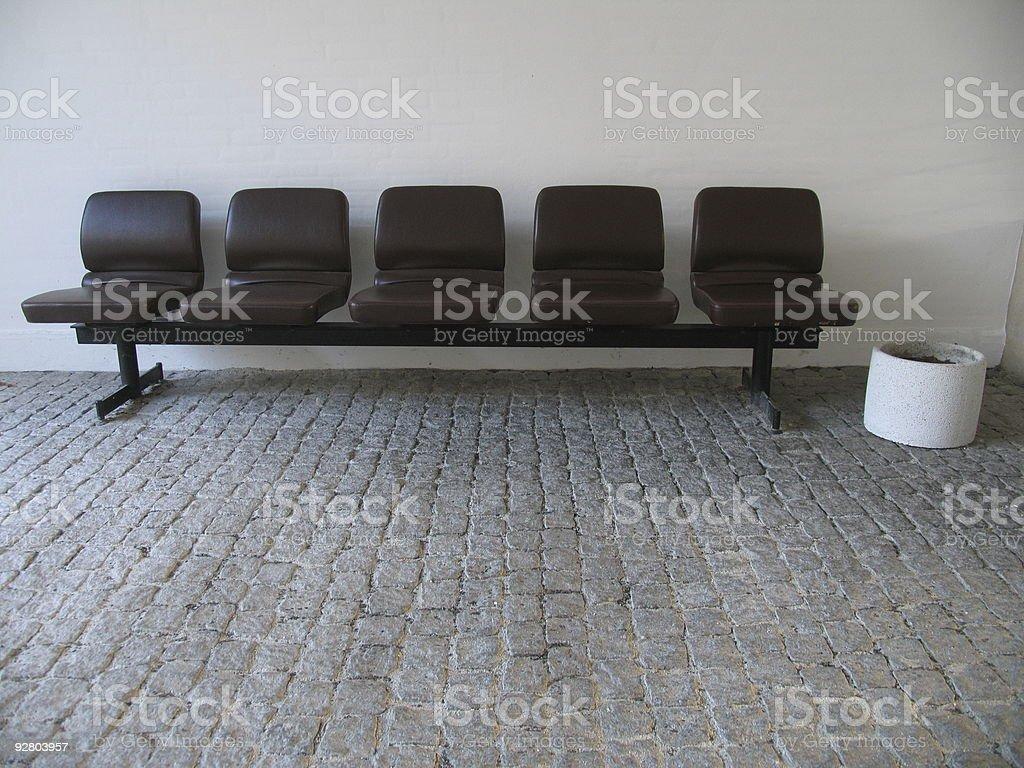 Five seats royalty-free stock photo