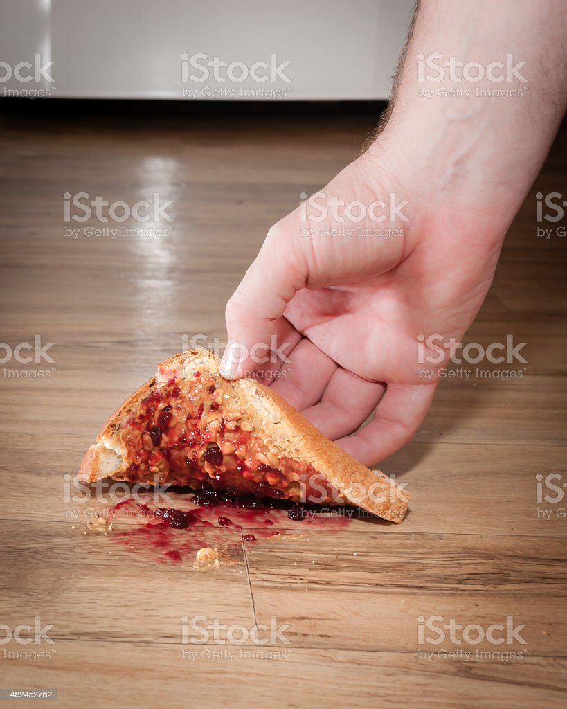 Five Second Rule stock photo