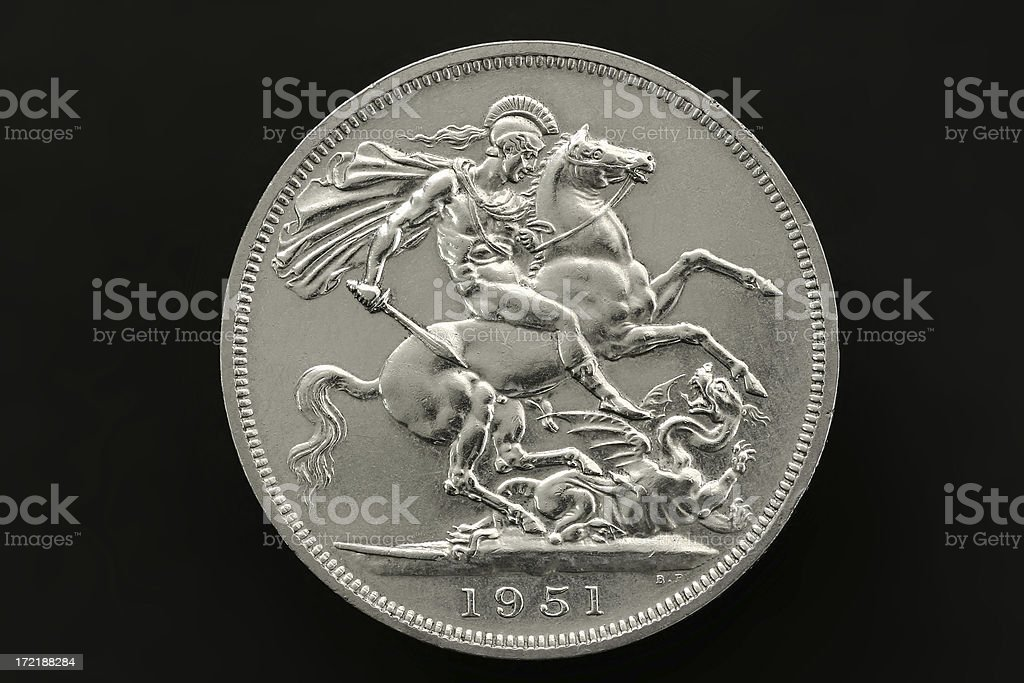 Five Shilling Coin royalty-free stock photo
