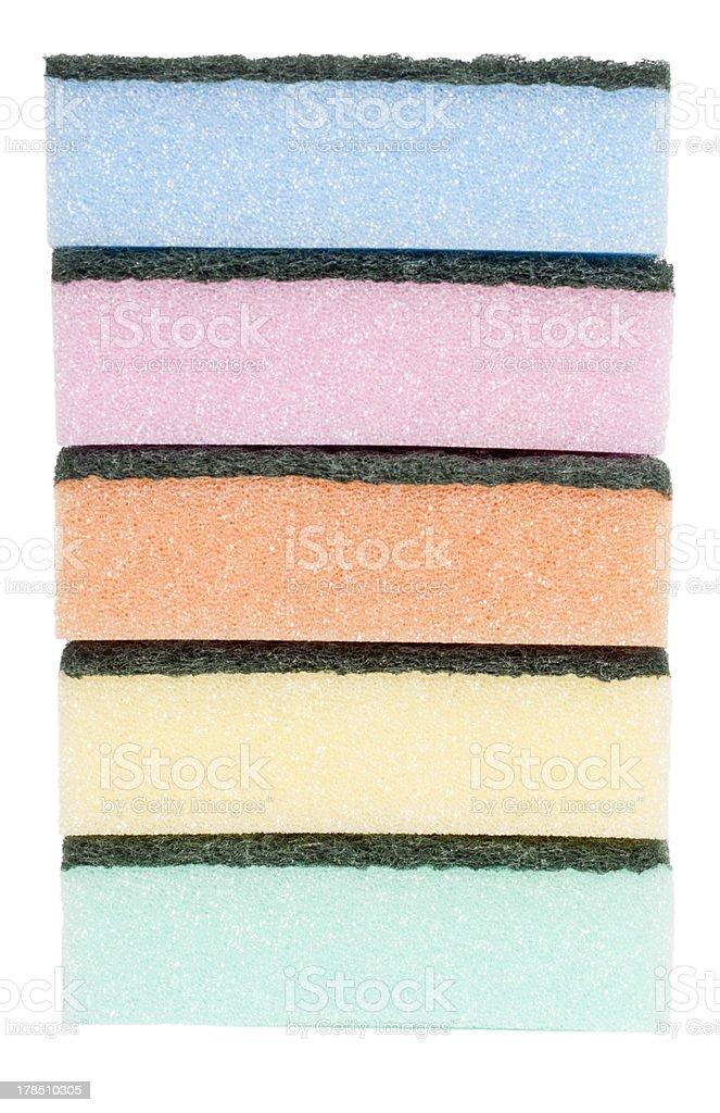five sponges royalty-free stock photo