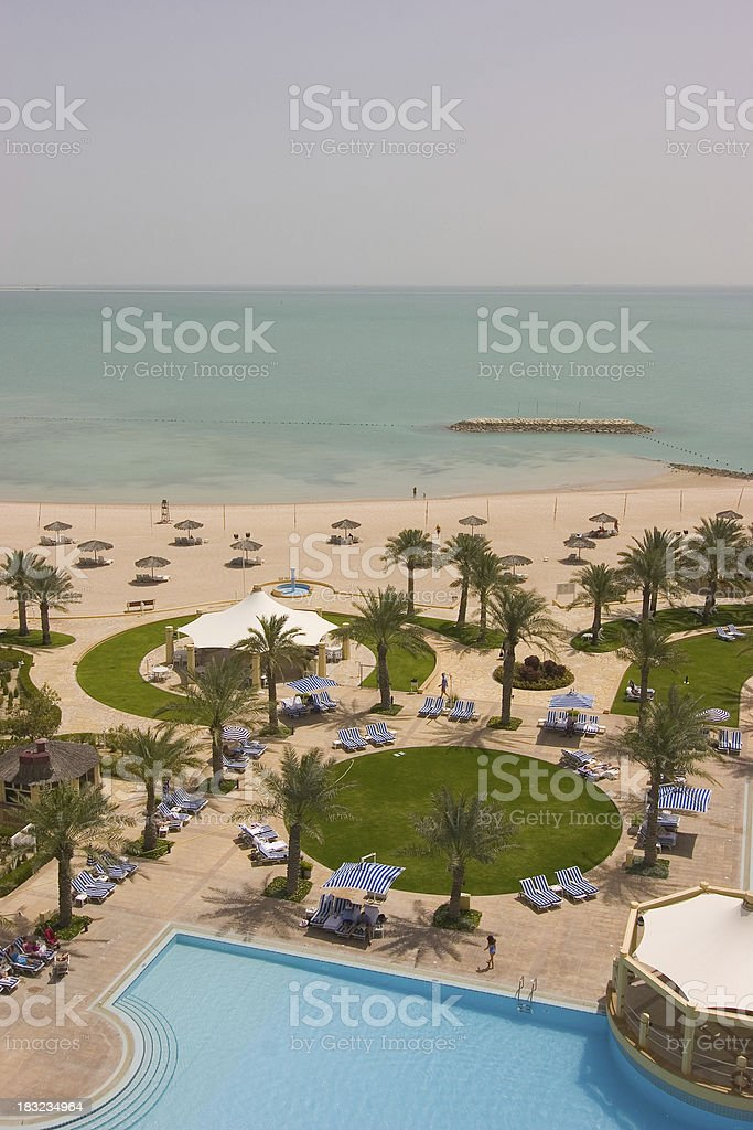 Five star beach and swimming pool royalty-free stock photo