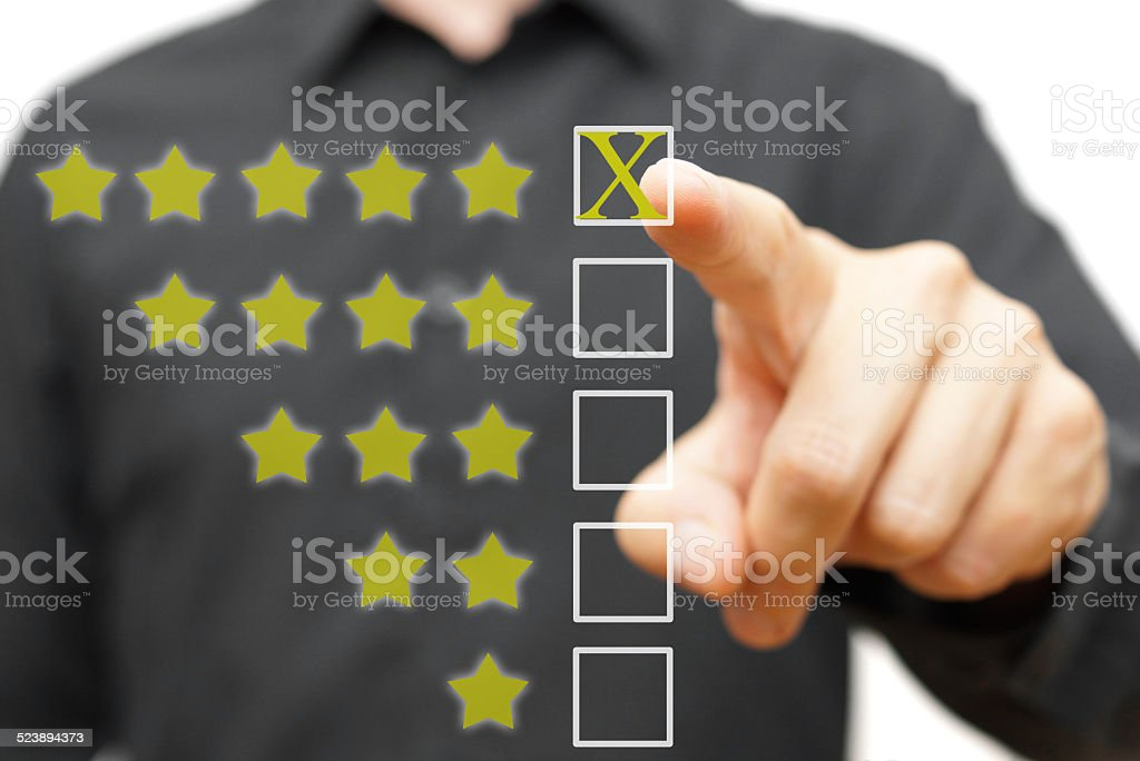 Five star rating stock photo
