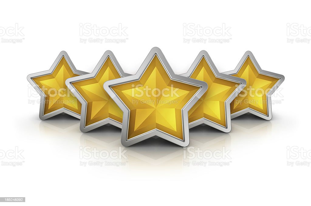 five star reward icon royalty-free stock photo
