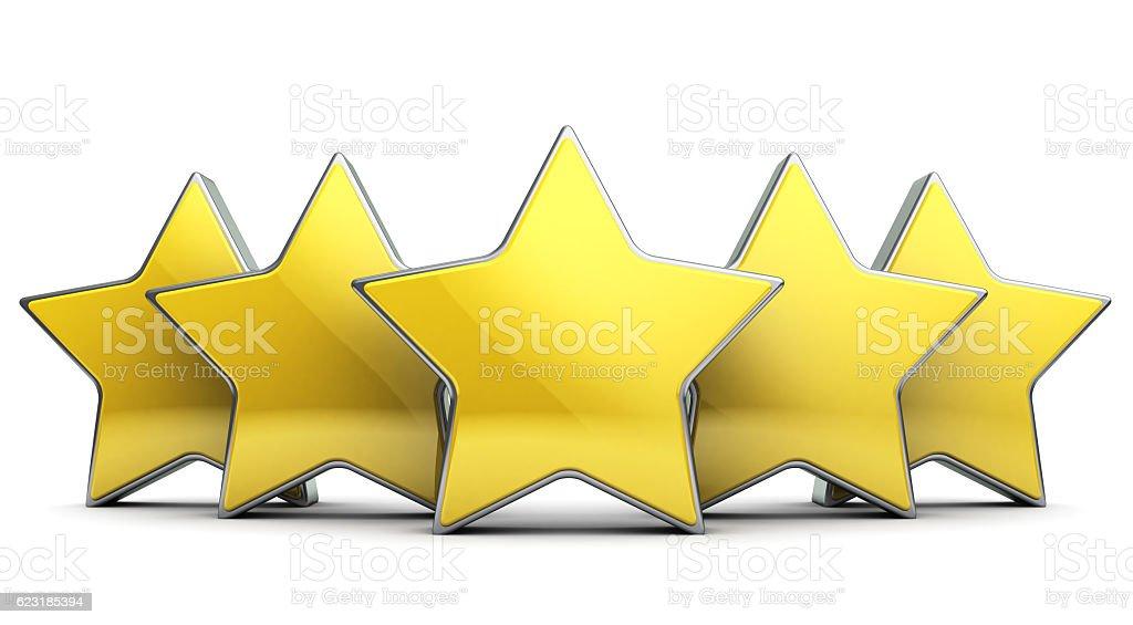 five stars stock photo