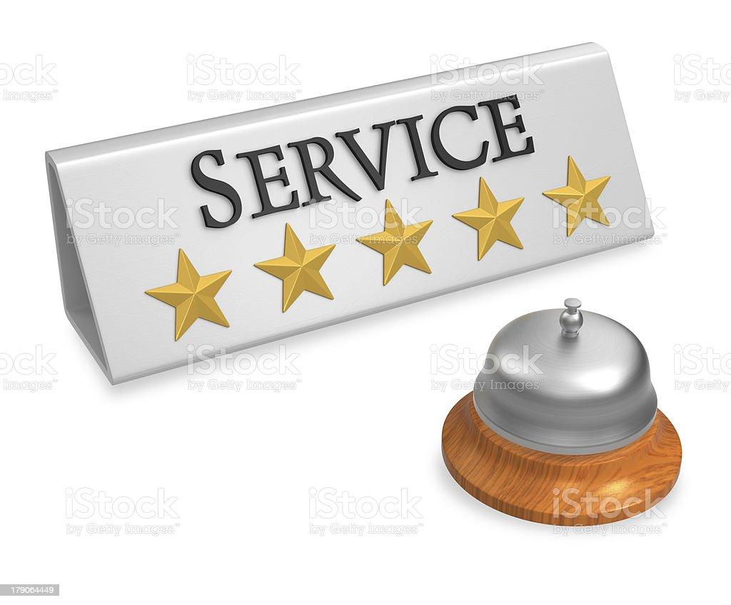 Five stars service concept stock photo
