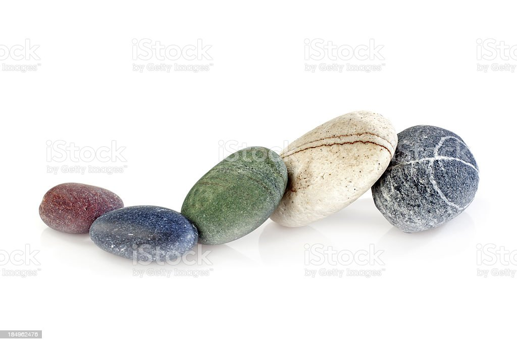 Five stones royalty-free stock photo