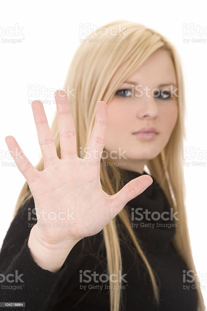 Five / Stop stock photo