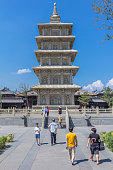 five stories pagoda at Ling Yan temple