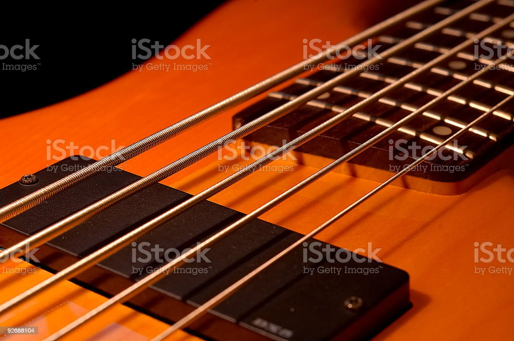Five String Bass Angle stock photo