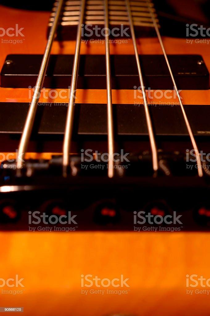 Five String Bass Bridge royalty-free stock photo