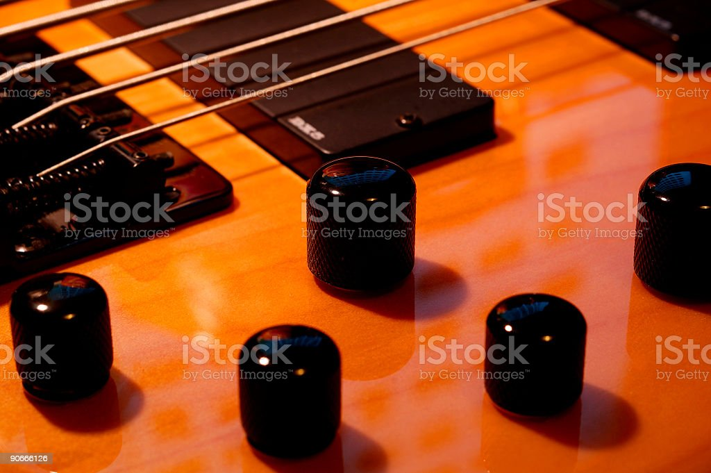 Five String Bass Knobs stock photo