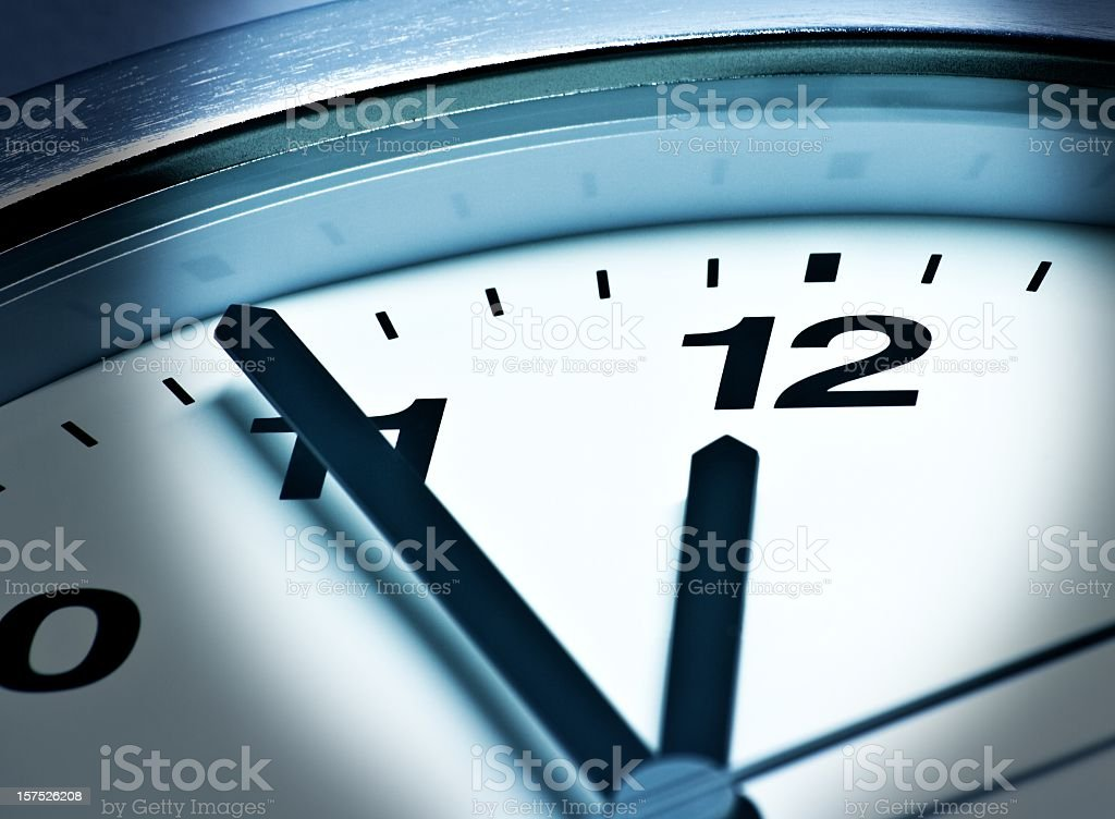 F?nf vor zw?lf,  23:55, 11:55, It is high time royalty-free stock photo