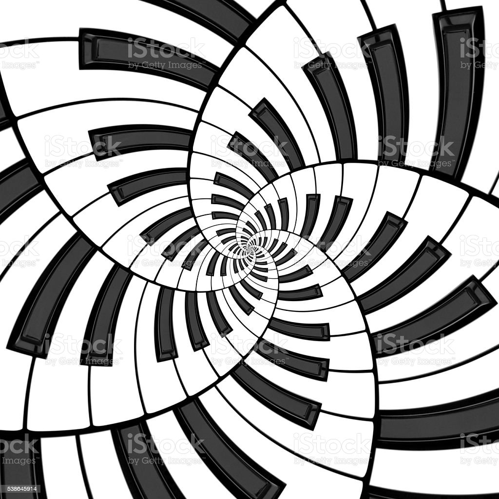 Five Way Keyboard Spiral stock photo