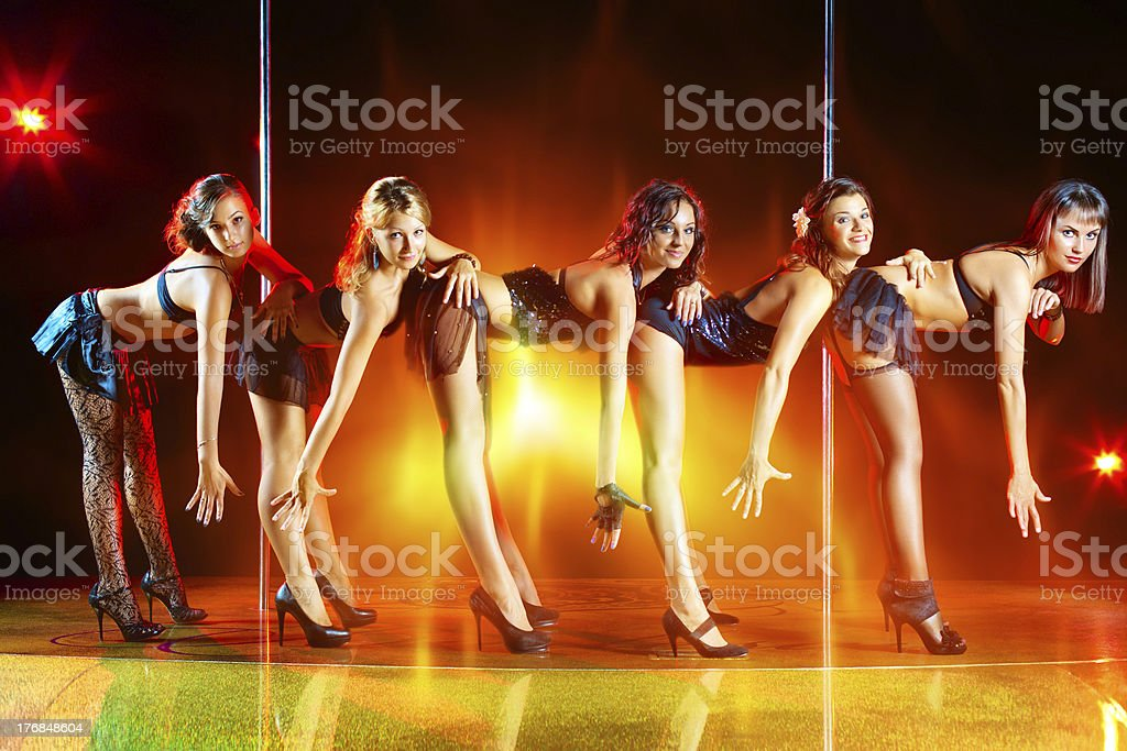 Five women show stock photo