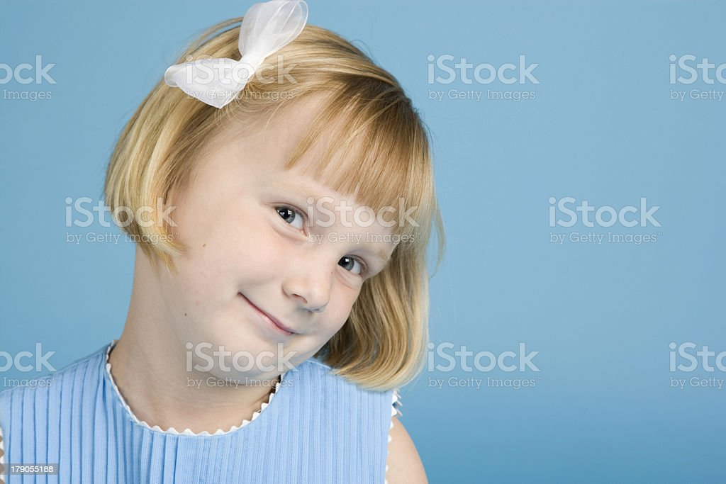Five Year Old caucasian Girl Mischief royalty-free stock photo