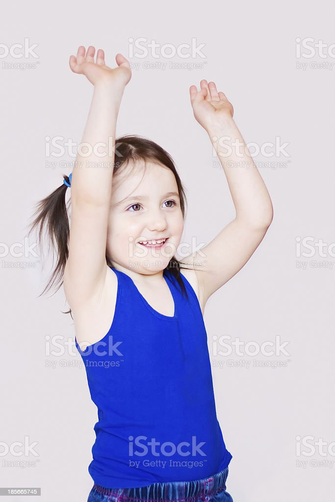 Five years old girl smiling royalty-free stock photo