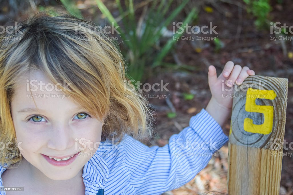 Five years old stock photo