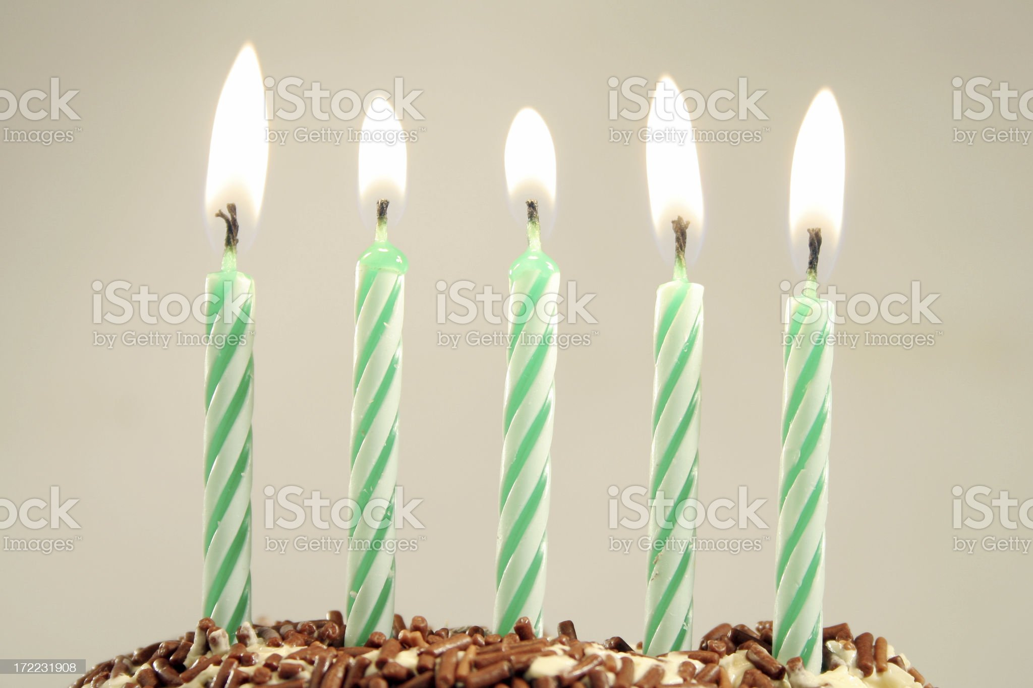 five years royalty-free stock photo