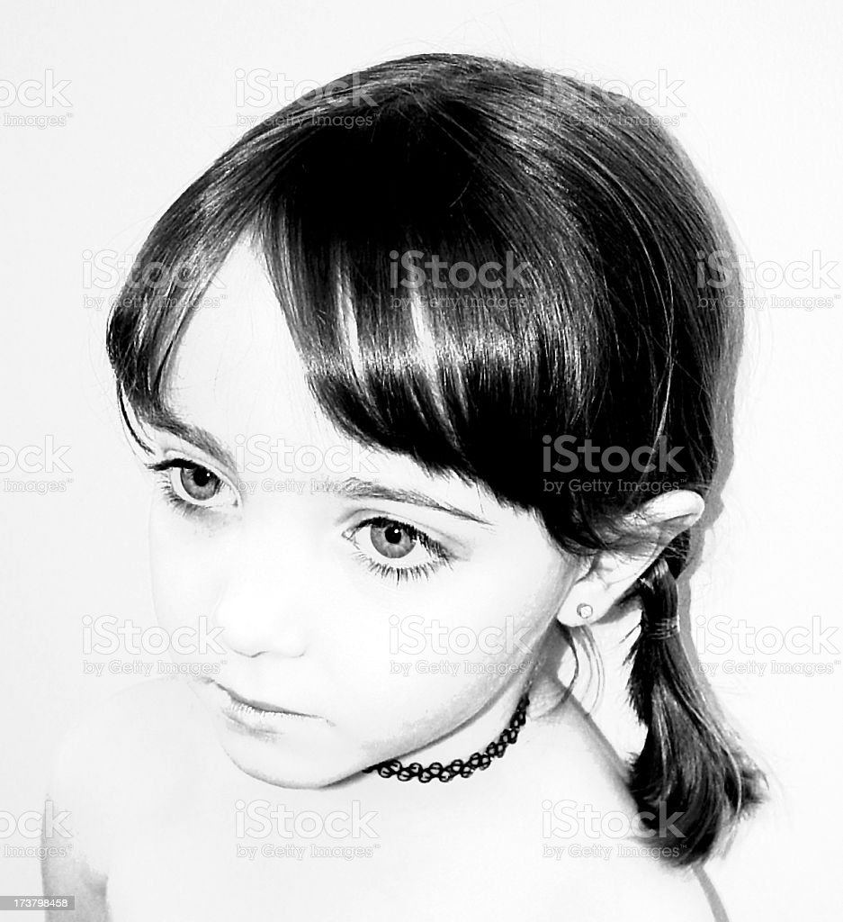 five yr old girl royalty-free stock photo