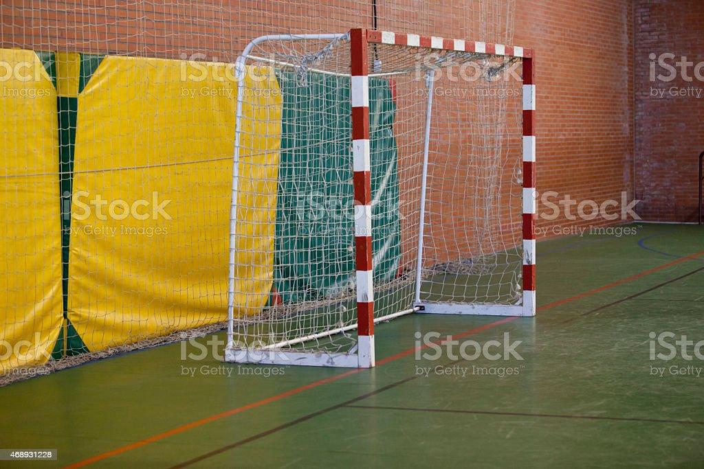 Five-a-side football goal stock photo