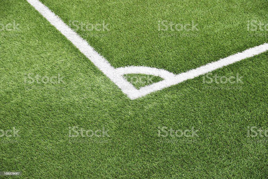 Five-a-side football pitch corner kick royalty-free stock photo