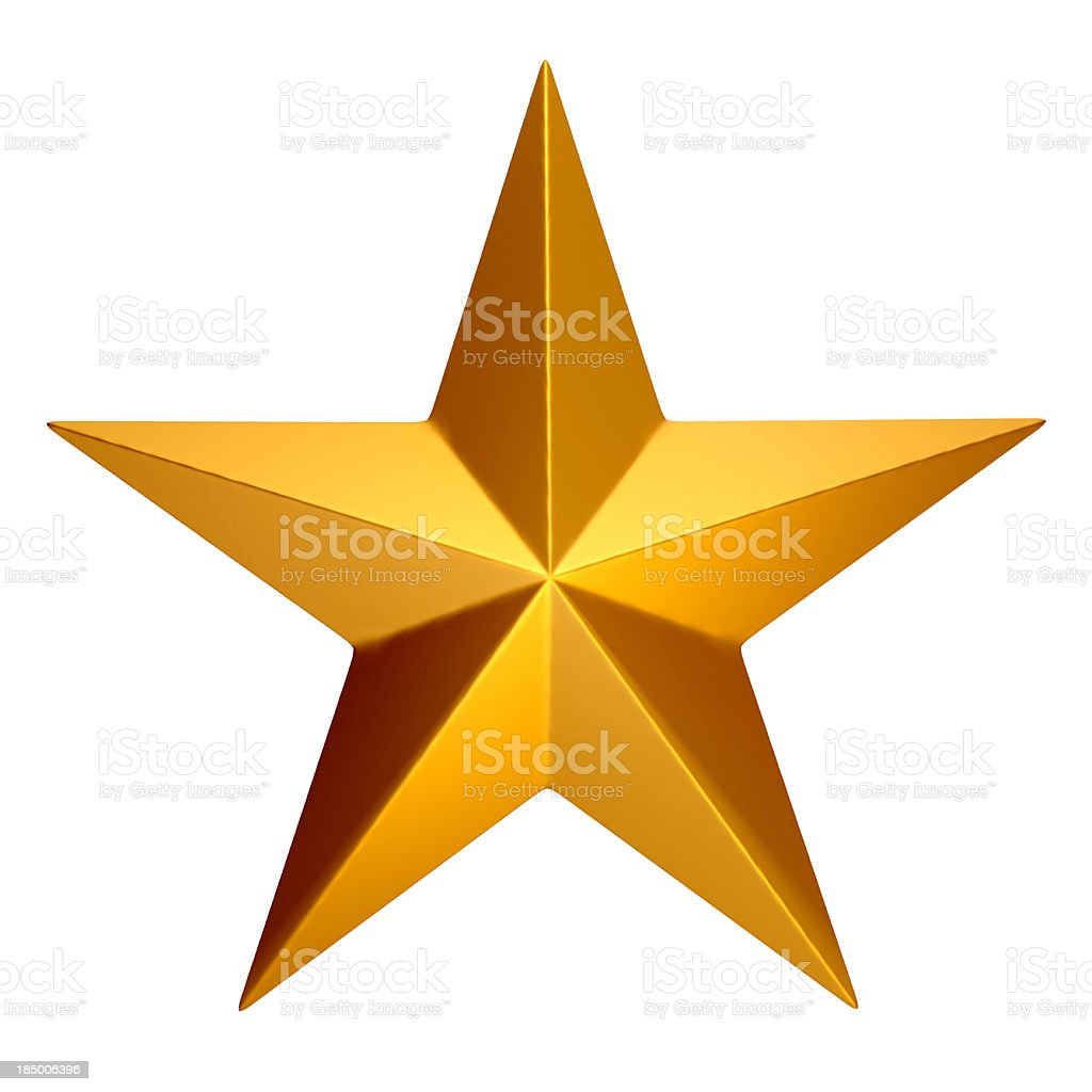 Five-Pointed Star stock photo