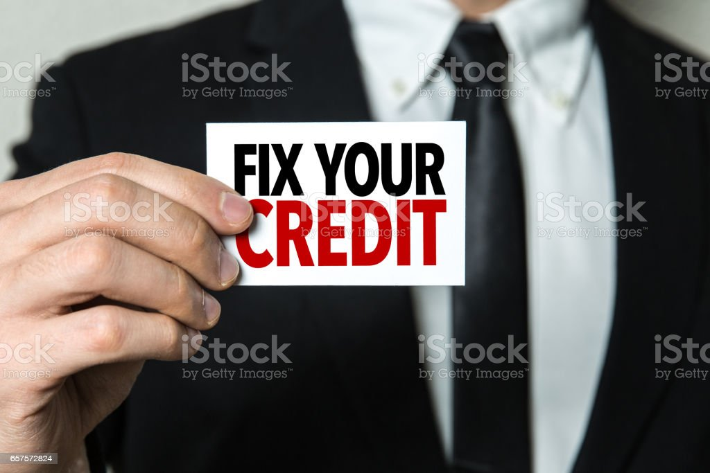 Fix Your Credit stock photo