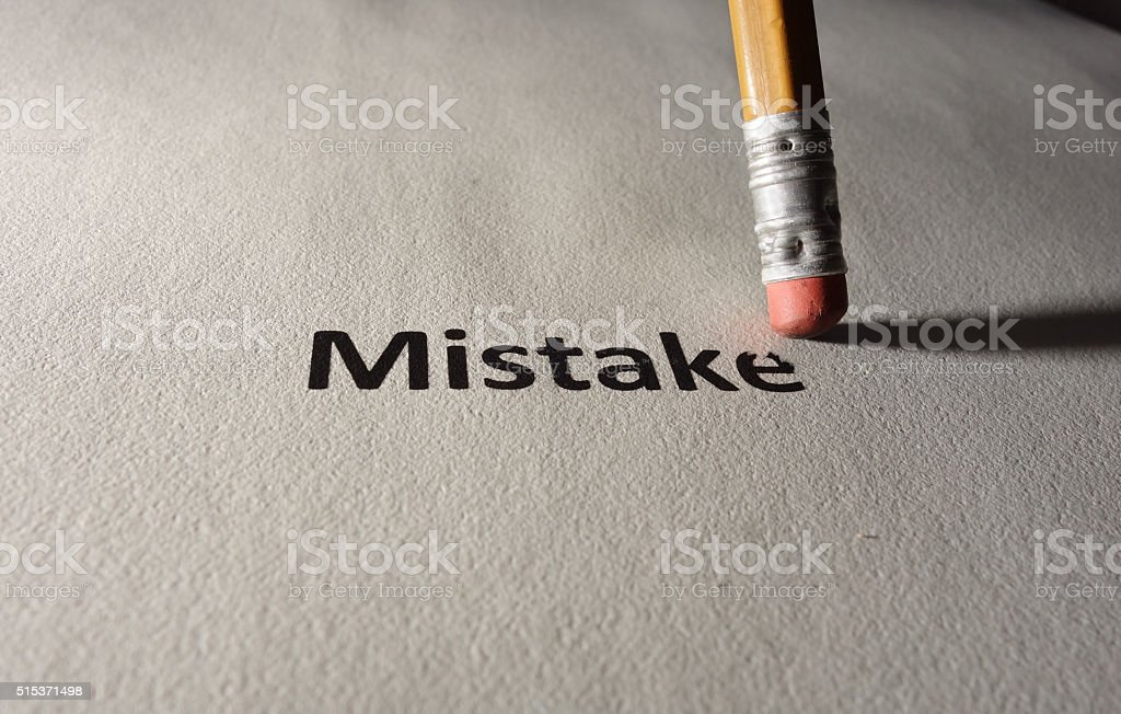 Fix your mistakes stock photo