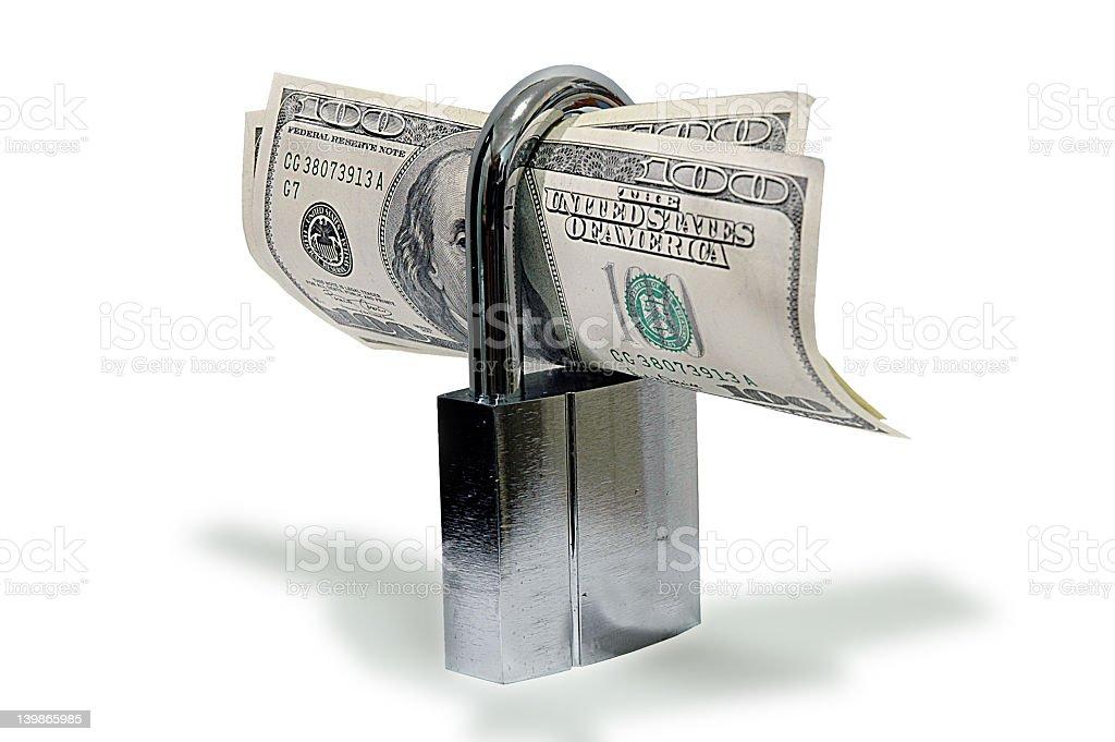 US Fixed Deposit.  Lock up your dollar. stock photo