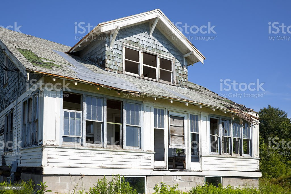 Fixer-Upper; Dilapidated House royalty-free stock photo