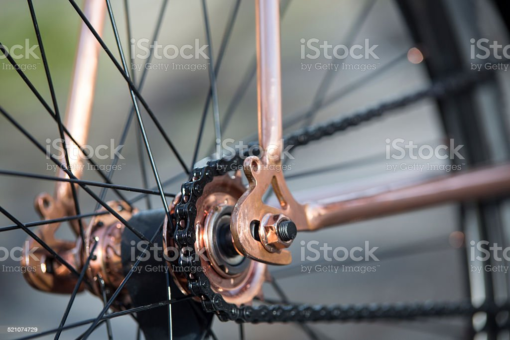 Fixie bicycle fixed gear stock photo
