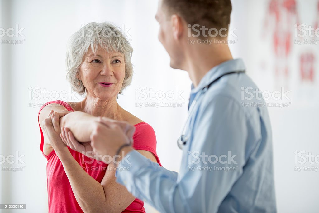 Fixing a Shoulder Injury stock photo