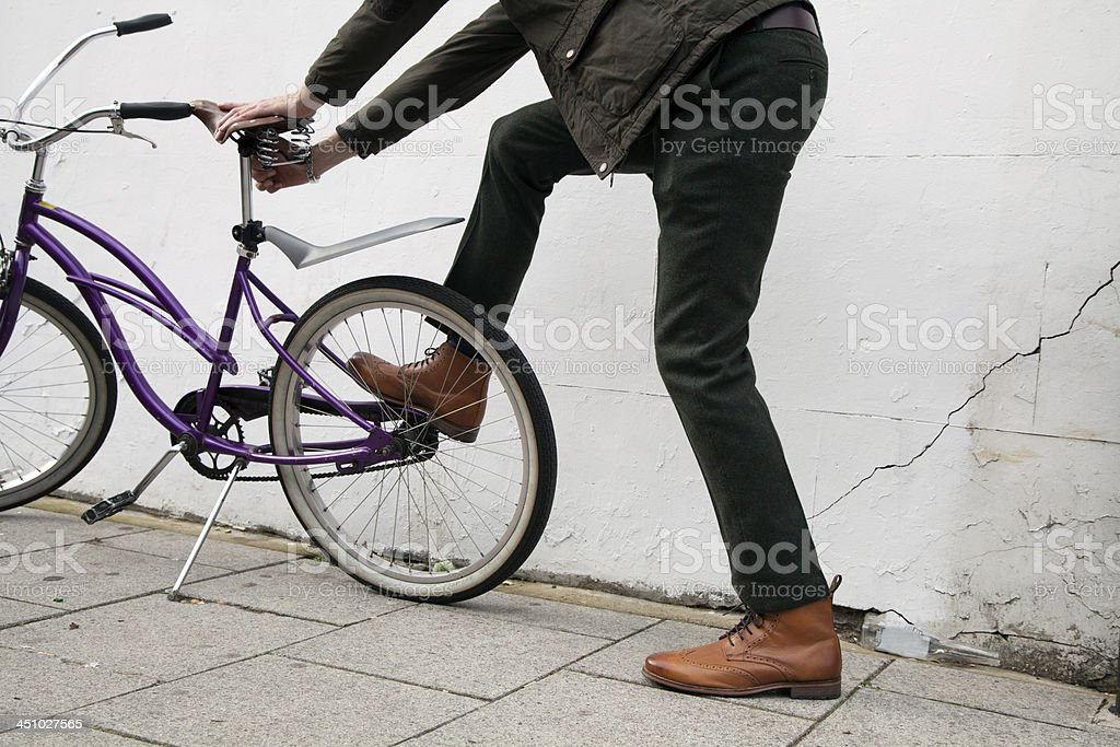 fixing bike stock photo