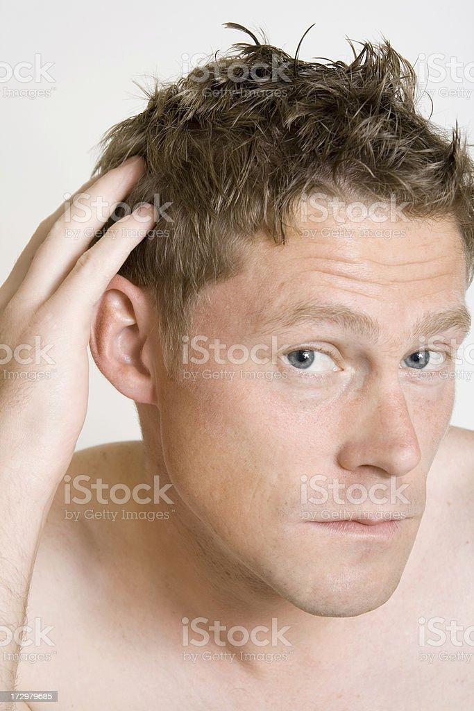 Fixing Hair royalty-free stock photo