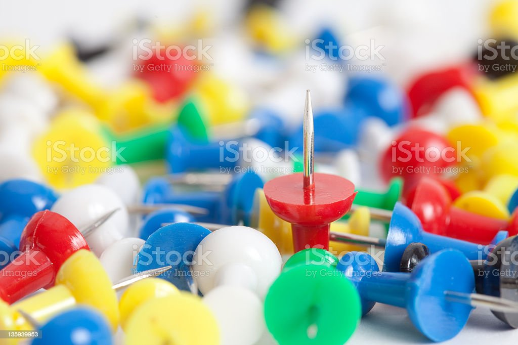 fixing pins royalty-free stock photo