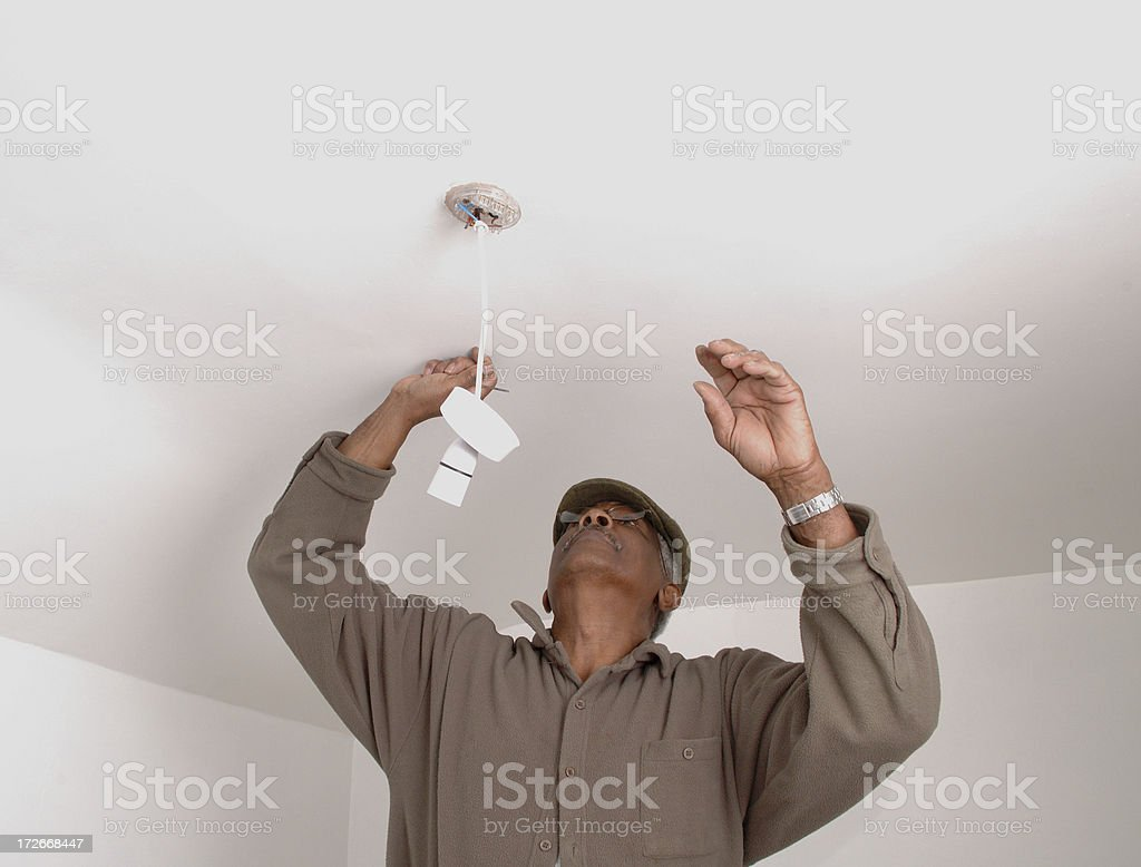 fixing the light royalty-free stock photo