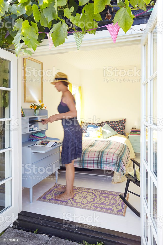Fixing up the country cottage stock photo