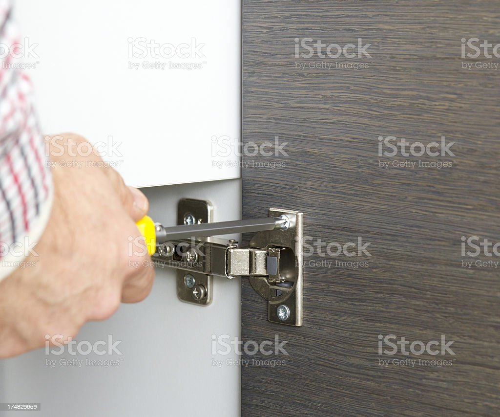 Fixing your new kitchen stock photo