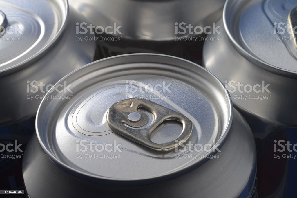 Fizzy drinks cans. royalty-free stock photo